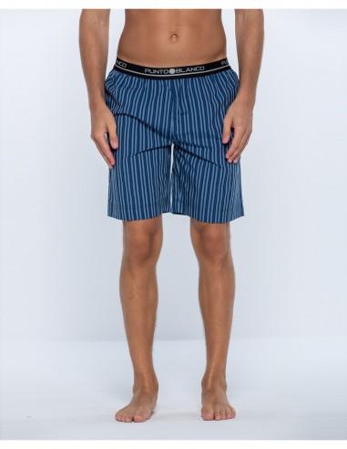 Pantalon corto rayas punto blanco